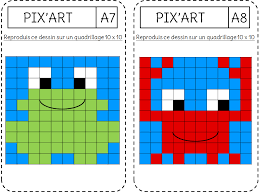 Reproduction  le Pixel art  Lécole de Crevette