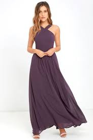 violet dress beautiful dusty purple dress maxi dress halter dress 68 00