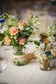 wedding flowers jam jars containers wedding table centres may