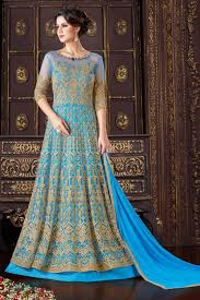 Designer Wedding Dresses Online Zari Work Anarkali Heavy Dresses Online Usa Blue Wedding Wear