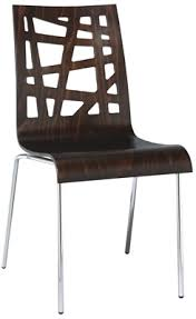 Artistic Chair Design Bent Beech Ply Wood Contemporary Chair With Chrome Frame