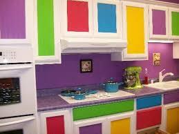 Painted Cabinet Doors Purple Kitchen Colors With Colorful Painted Cabinet Doors The