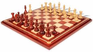 fierce knight staunton chess set in african padauk u0026 boxwood with