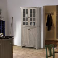 tall kitchen cabinet with doors office table
