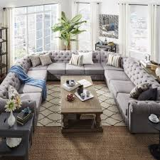Media Room Sofa Sectionals - signal hills knightsbridge tufted scroll arm chesterfield 11 seat