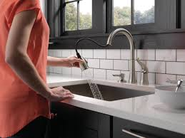delta kate kitchen faucet faucet 16970 sd dst in chrome by delta