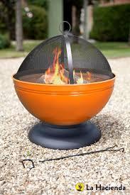 la hacienda electric patio heater la hacienda orange globe enamelled firepit u0026 grill patio heater