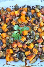 brussel sprouts for thanksgiving roasted brussels sprouts and butternut squash with balsamic glaze