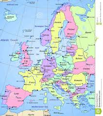 map of eurup map of european continent major tourist attractions maps