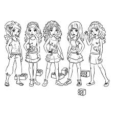 printable coloring pages lego friends coloring