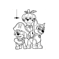 paw patrol halloween colouring pages preschoolers nick jr