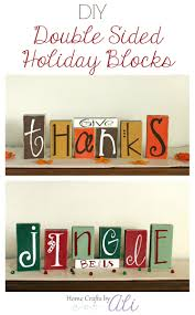 diy double sided holiday blocks home crafts by ali