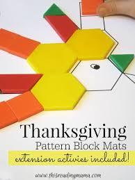 pattern blocks math activities thanksgiving mats for pattern blocks pattern blocks thanksgiving