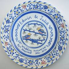 wedding anniversary plates 65 best personalised painted plates images on