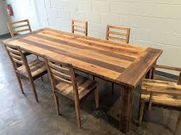 Farmhouse Dining Table With Leaf Reclaimed Wood Farmhouse Extendable Dining Table Smooth Finish