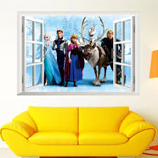 new 3d window sticker frozen princess anna and elsa viny art mural new 3d window sticker frozen princess anna and