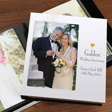 50th wedding anniversary photo album golden wedding photo album ebay