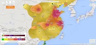 Harbin China Map by China U0027s Air Pollution Mapped Color Coded And In Real Time