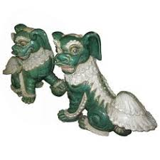 choo foo dogs set of 2 choo foo dogs green furniture decor