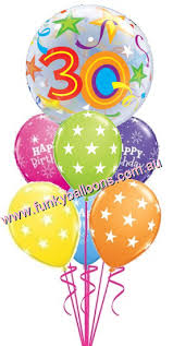 30th birthday balloons delivered 30th birthday funky balloons brisbane qld helium balloon gift