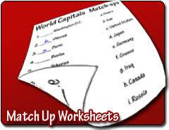 match up worksheet maker