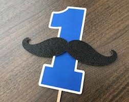 mustache cake topper birthday cake topper