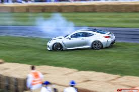 custom lexus rc f video lexus rc f racing at goodwood lexus enthusiast