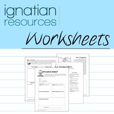 worksheets ignatian resources