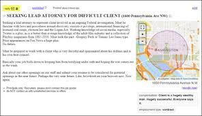 Seeking Hilarious Seeking Lead Attorney For Difficult Client Hilarious Craigslist
