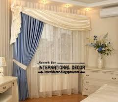 unique bedroom curtain design blue white curtain unique and