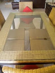 pier 1 glass top dining table pier 1 wicker with glass top dining table set w 6 chairs moving