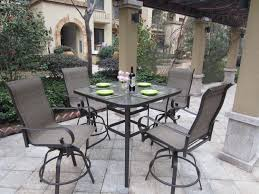 High Top Patio Dining Set Reclaimed Wood And Steel Outdoor Dining Table The Coastal Garden
