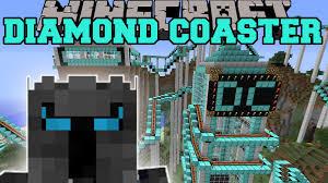 diamond city halloween minecraft the diamond roller coaster youtube