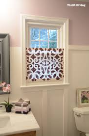 how to make a pretty diy window privacy screen thrift window