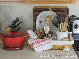 kitchen counter organizer ideas kitchen organization tips postcards from the ridge