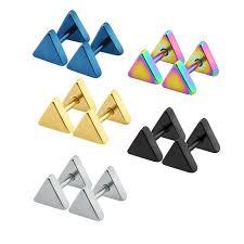earring stud set aliexpress buy triangle earrings stud set stainless