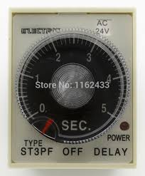 Jual Timer Dc st3pf ac 24v 60s delay spdt time relay 24vac delay timer in