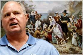 limbaugh s true story of thanksgiving is a lie filled load
