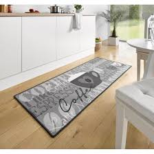 tapis de cuisine pas cher tapis de cuisine coffee cup gris 67x180 cm 102370 achat vente