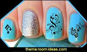 decorating theme bedrooms maries manor nail art music themed