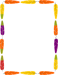 native american clipart border pencil and in color native