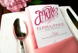 diy wedding menu cards menu cards with sophisticated script modern wedding