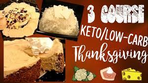 3 course keto low carb thanksgiving menu wls friendly