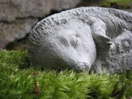 hedgehog statue concrete fairy garden critter 18 95 via etsy