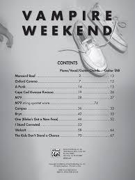 vampire weekend songbook by vampire weekend j w pepper sheet music