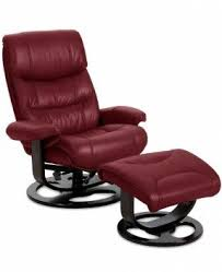 leather reclining chair with ottoman foter