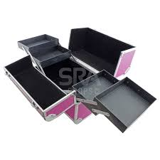 Vanity Box Make Up Cosmetic Vanity Case With Fold Out Trays