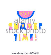 word summer with colorful and funny letters stock photo royalty