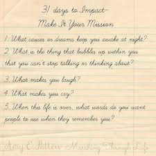 the five step plan for creating personal mission statements