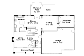 french floor plans bungalow house plan cavanaugh 30 490 flr1 and elevations